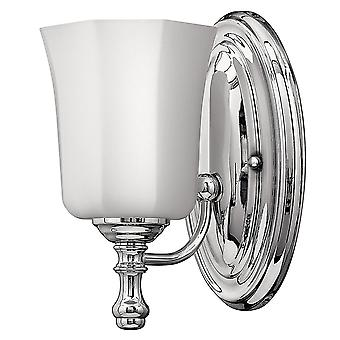 Elstead-1 ljus vägg ljus-polerad Chrome finish-HK/SHELLY1 BATH