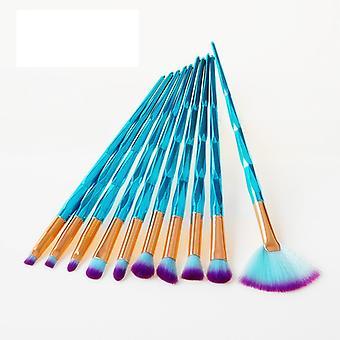 Diamond Farverige Pro Set med 10 stk. eksklusive makeup / makeup pensler