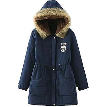 Women ladies sherpa warm winter pockets fleece lined parka faux