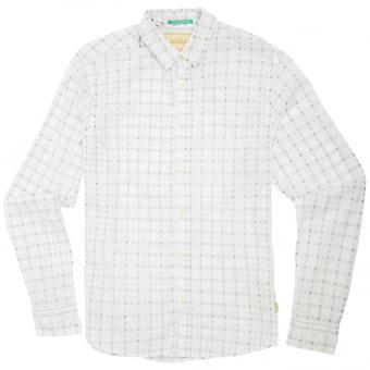 Scotch & soda Window cheque camisa, blanco