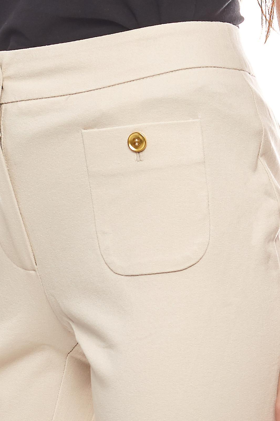 vivance collection Hose stylische Damen Businesshose Kurzgröße Beige