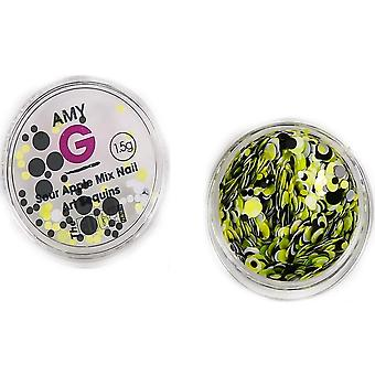 The Edge Nails Amy G - Sweet Nail Art Sequins - Asour Apple 1.5g (3003063)