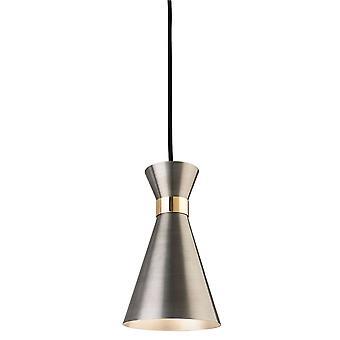 Firstlight-1 luce soffitto ciondolo argento antico, ottone-7680AS