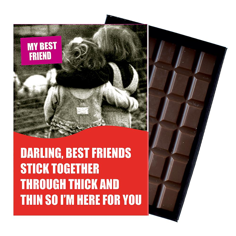 Funny Birthday Gift For Women Friend Girlfriend Boxed Chocolate Greeting Card Present CDL143