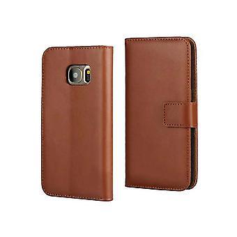 Zakje lederen portemonnee-Samsung Galaxy S7 Edge