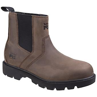 Timberland Pro Mens Sawhorse Dealer Slip on Safety Boot Brown