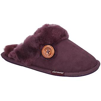 Cotswold Womens Lechlade Sheepskin Mule Slipper Purple