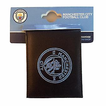 Manchester City FC Official Football Crest Embroidered PU Leather Wallet