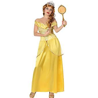 Women costumes Women Yellow Princess fancy dress adult