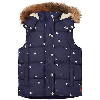 Joules Girls Rhea Printed Fleece Lined Gilet Bodywarmer