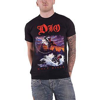 Dio T Shirt Holy Diver Album cover Ronnie James new Official Mens Black