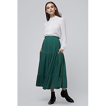 Louche Lenora Tiered Skirt Green