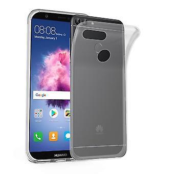 Cadorabo geval voor Huawei P SMART 2018/Enjoy 7S gevaldekking-mobiele telefoon geval gemaakt van flexibele TPU silicone-silicone geval beschermende case ultra slanke zachte terug Cover Case bumper