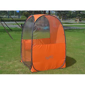 All Weather Pod/Football Mom pop-up tent, FlashTents®, 1 person, Orange/Dark grey