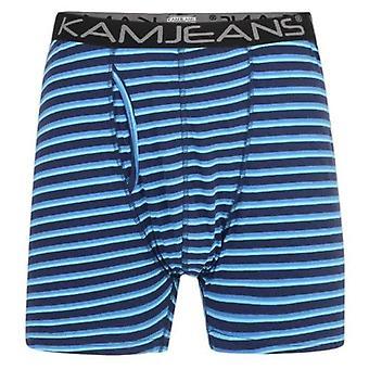 Kam Jeanswear Twin Pack Stripe Boxer