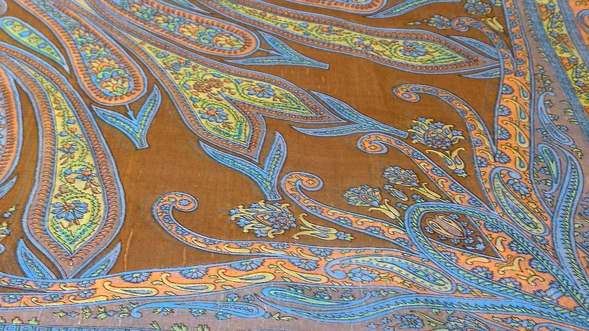 Mulberry Silk Traditional Square Scarf Yana Chestnut by Pashmina & Silk