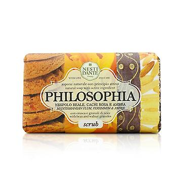 Nesti Dante Philosophia Natural Soap - Scrub - Mediterranean Plum Persimmon & Amber With Bran & Walnut Granules - 250g/8.8oz