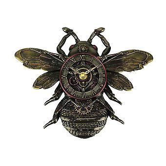 Klok van de muur van de honingbij van steampunk stijl bronzen Finish