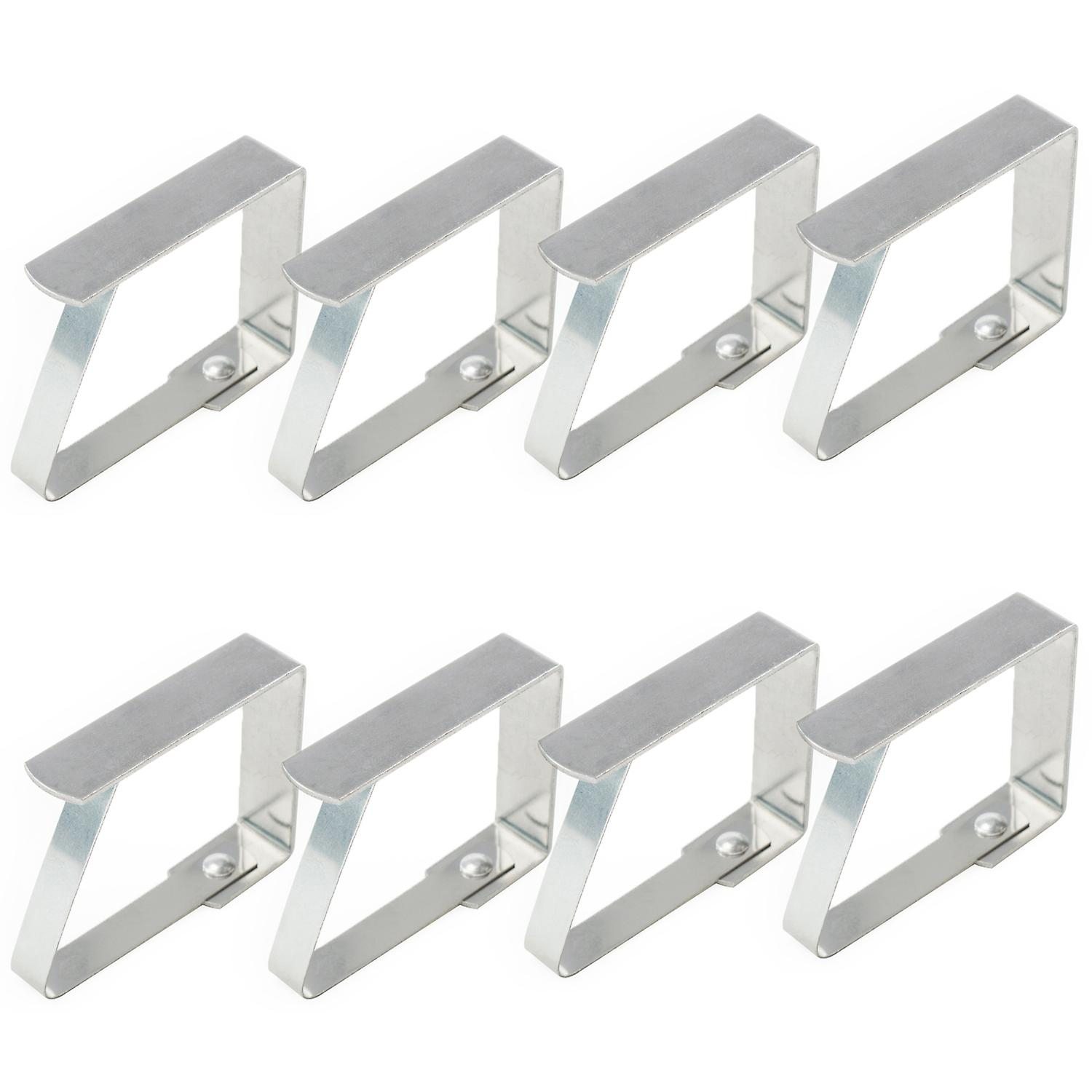 TRIXES 8PC Pack of Stainless Steel Table Cloth Clips Home and Outdoor Garden