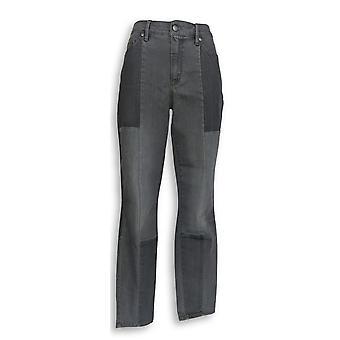 Martha Stewart Femmes apos;s Jeans Seamed Panel 5-Pocket Gray A351150
