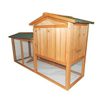 Charles Bentley Premium 2 Piano in legno All'aperto Guinea Coniglio Hutch Casa