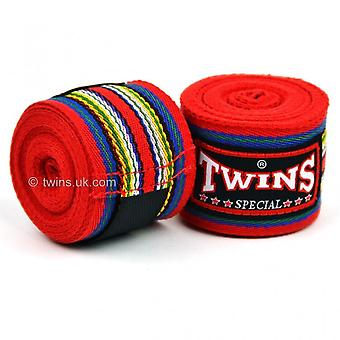 Twins CH-2 Premium Cotton Hand Wraps Red