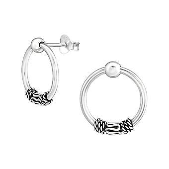 Bali - clous d'oreilles de la plaine d'argent Sterling 925 - W37868X