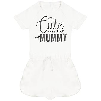 I'm Cute Just Like My Mummy Baby Playsuit