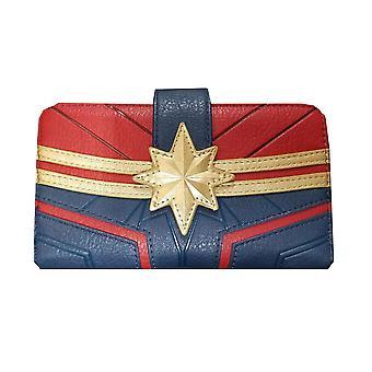 Loungefly x Captain Marvel Suit Debossed Zip Around Purse