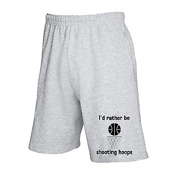 Pantaloncini tuta grigio wtc1275 id rather be shooting hoops