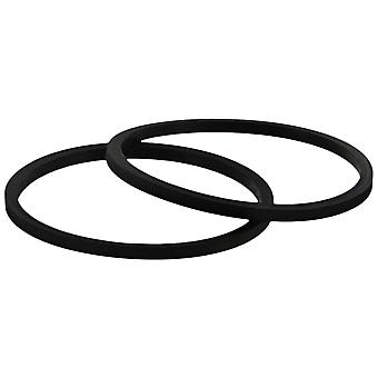 Zedlabz replacement rubber drive belt for microsoft xbox 360 dvd disc tray  - 2 pack black