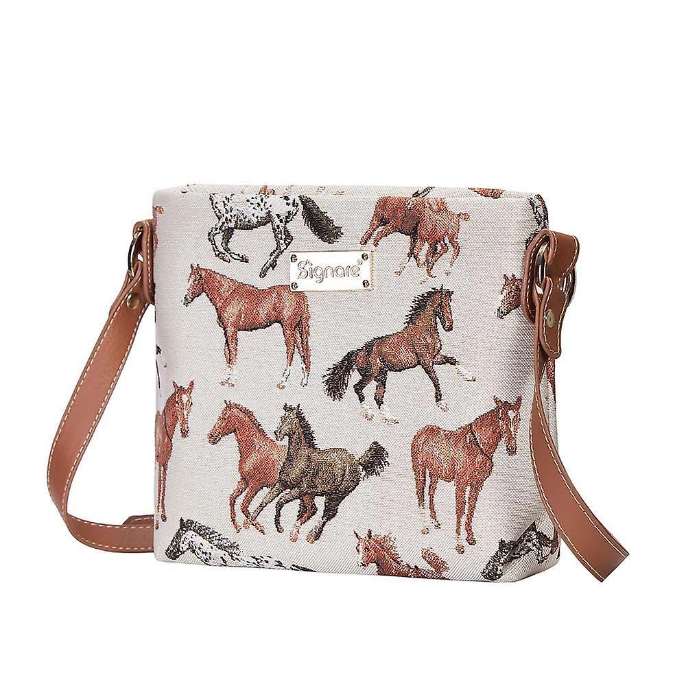 Running horse shoulder cross body bag by signare tapestry / xb02-rhor