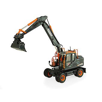Doosan DX160 W Black Edition Diecast Model Excavator