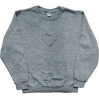 Cut-Out Heart Ash Sweatshirt
