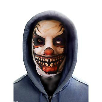 Wild star hearts - ripped grin clown face - lycra face mask