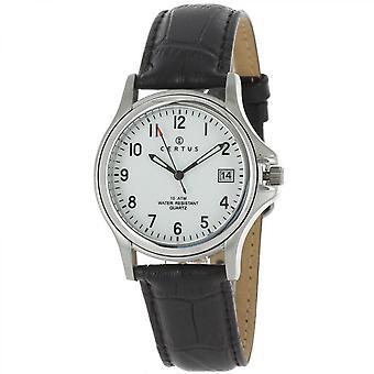 Certus 610397 relógio - relógio homem de couro preto