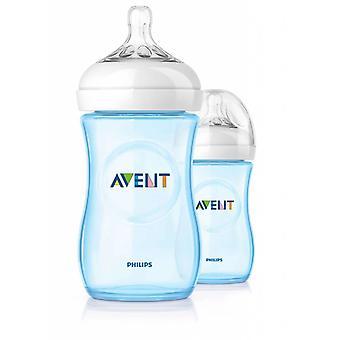 Avent Natural Blue Baby Bottle 260Ml