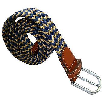 Bassin e marrone a righe elasticizzato cintura intrecciata - Beige/Navy