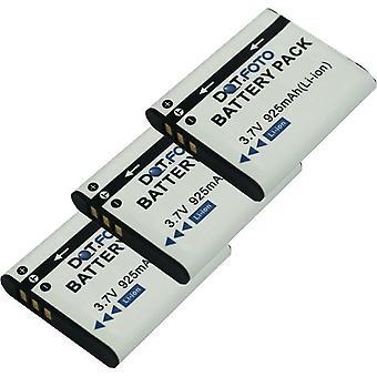 3 x Dot.Foto bateria Panasonic VW-VBX090 - 3.7 v / 925mAh