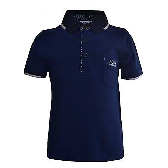 Hugo Boss Boys Hugo Boss Kids Blue Polo Shirt