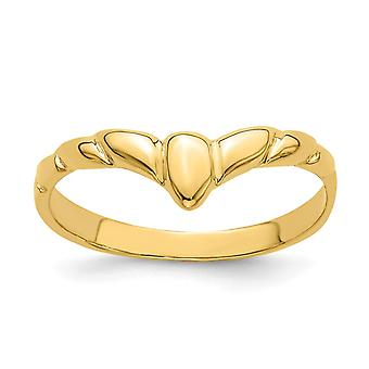 5 febmm 14k Gold V Band Ring Size 6 Jewelry Gifts for Women