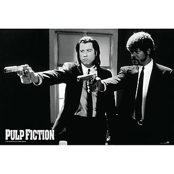 Pulp Fiction, Maxi Poster - Black and White