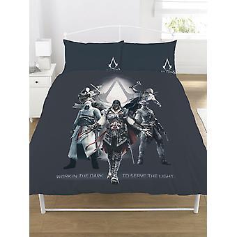 Assassin's Creed Serve o conjunto de cobertura de duvet duplo leve