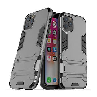 HATOLY iPhone 11 Pro Max - Robotic Armor Case Cover Cas TPU Case Gray + Kickstand