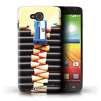 STUFF4 Case/Cover for LG L90 Dual/D410/Pencils/Zip/Abstract Art