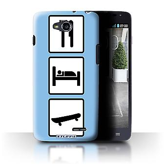 STUFF4 Case/Cover for LG L90/D405/Skate/Skateboard/Blue/Eat/Sleep
