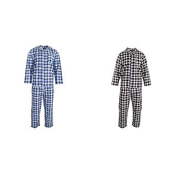 Walter Grange Mens Traditionele Check Cotton Pyjama Set