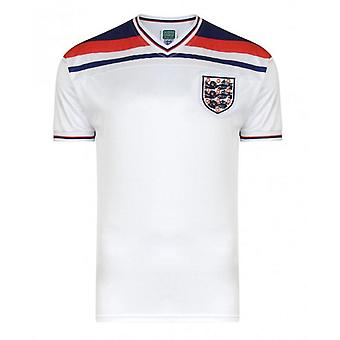Official England Football Men's Adult 1982 World Cup Retro Home Shirt | 3XL | White