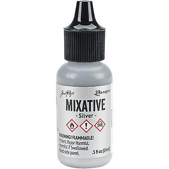 Tim Holtz Alcohol Ink Metallic Mixatives-Silver Metallic Mixative
