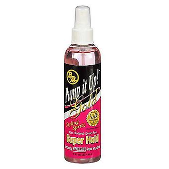 Bronner brothers pump it up spritz gold, super hold, 8 oz